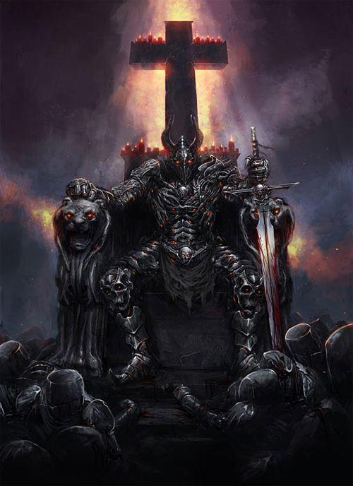 Dark evil death swordsman artworks illustrations