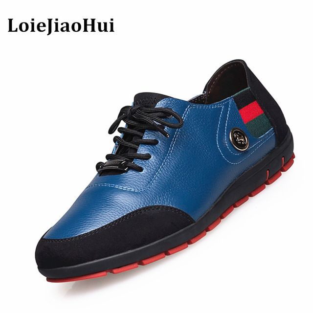 Great Deal $33.15, Buy 2017 Fashion Big Size Men Genuine Leather Casual Shoes High Quality Brogues Oxford Flats Shoes Luxury Brand Dress Board Shoes