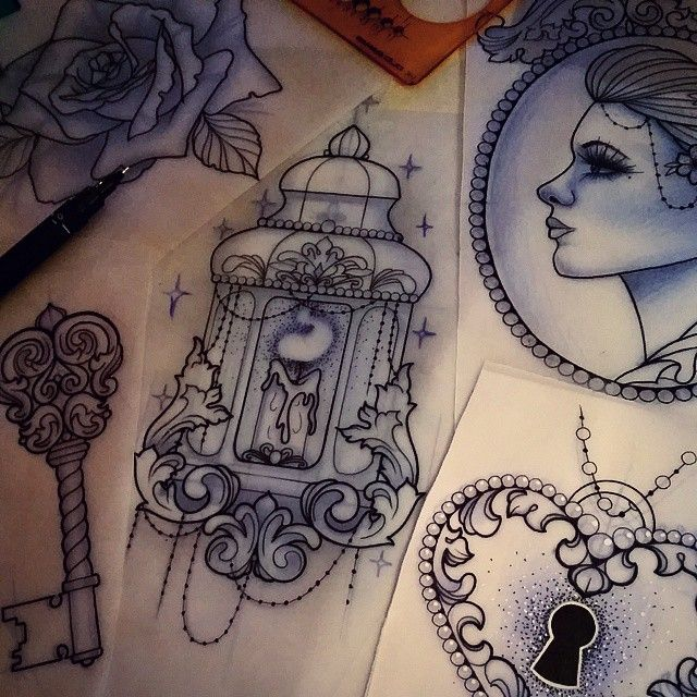 More pieces for Moniques arm, really looking forward to it!  #tattoo #design…