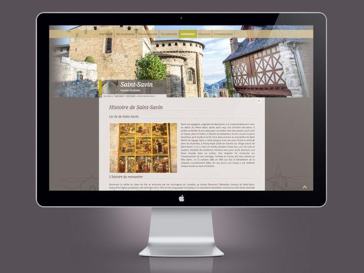 Design / Ergonomie / Développement Wordpress > Site Internet de la mairie de Saint-Savin