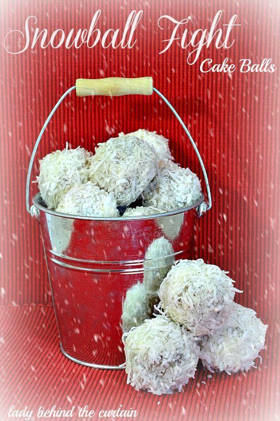 Christmas Cake Pop Snowball Recipe