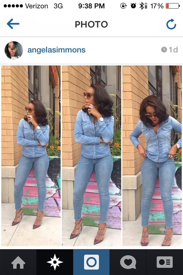 Denim on Denim Angela Simmons