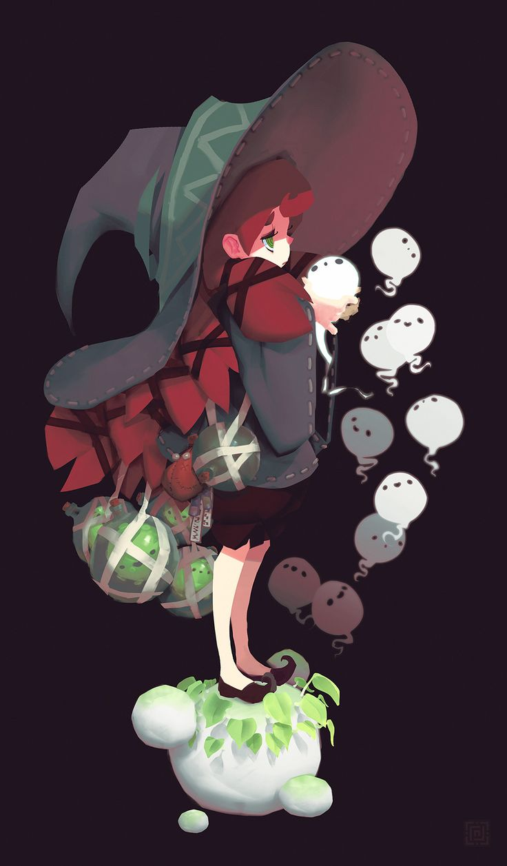 ArtStation - Bored witch, Alexis Rives