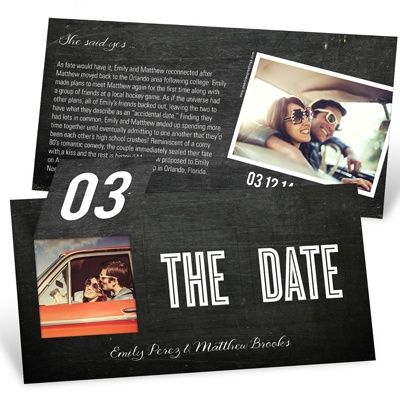 Pop Up to Perfection -- Save the Date Cards