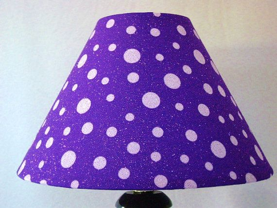 Glitter purple lamp shade by GimmeLightandCrafts