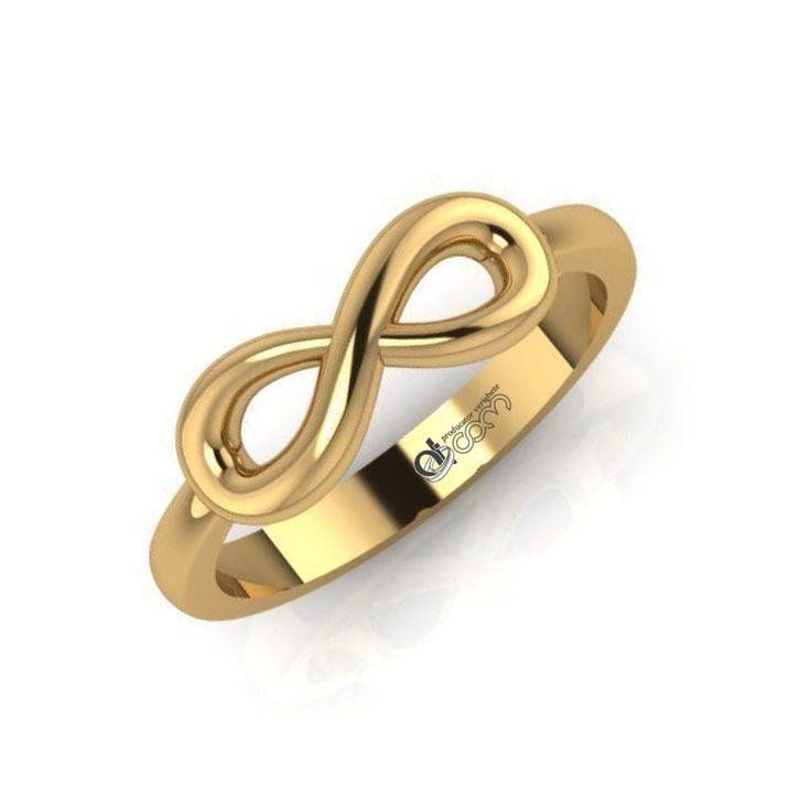 Inel de logodna Infinit aur galben