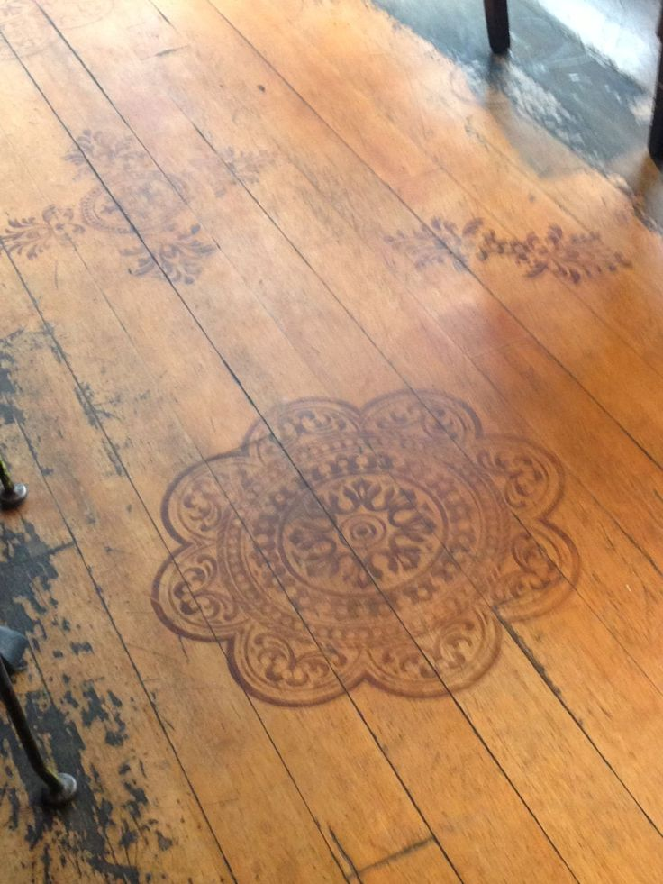 Stencil Wood Floor Dream It Do It Pinterest Stenciling Woods And Floor Painting
