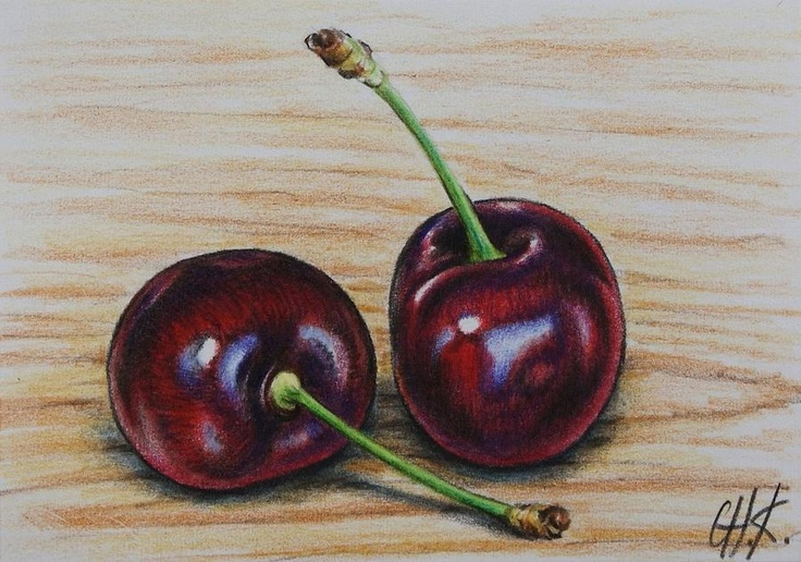 Cherries Painting by Christine Karron - Cherries Fine Art Prints and Posters for Sale
