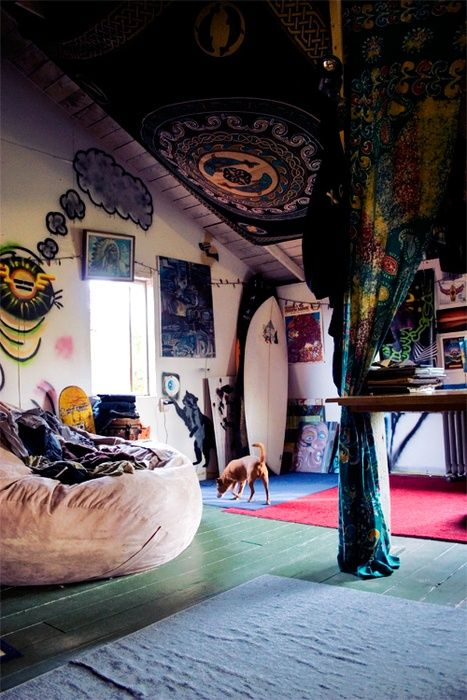 (2) boho room | like bean bag seat for yoga room