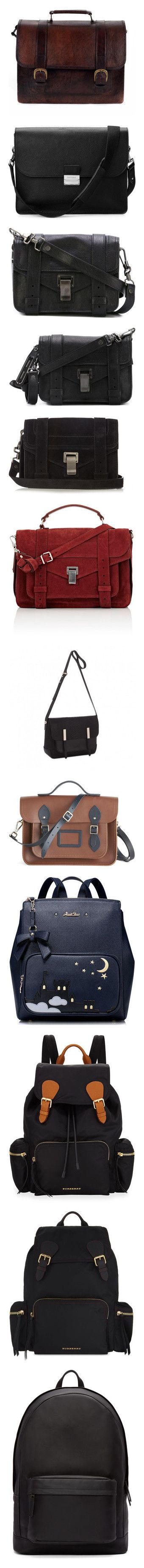 """""""Bags🎒👝👛👜💼"""" by sammy-uribe ❤ liked on Polyvore featuring bags, handbags, genuine leather purse, hand bags, man bag, leather laptop satchel, laptop handbags, messenger bags, purses and bolsas"""