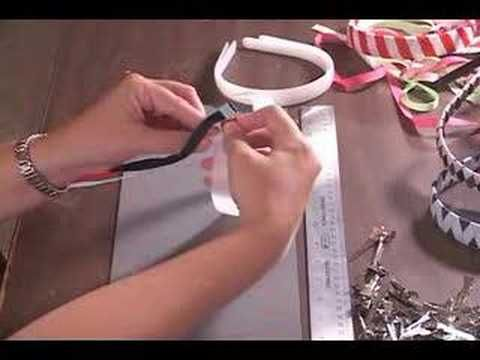 video tutorial: diy woven ribbon headband from Hair Hardware    https://www.hair-hardware.com/How-To-Make-Ribbon-Woven-Headbands_c_921.html