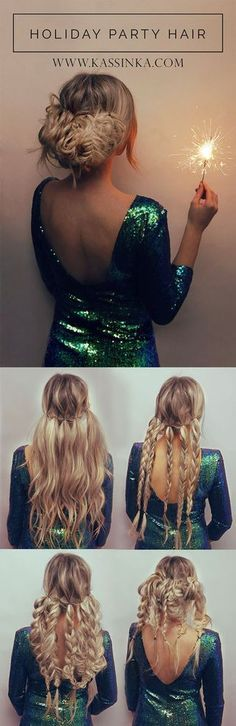 Holiday party hair tutorial! Honestly the right hairstyle makes your look feel complete, so I am back with another gorgeous styling option to help you always feel your best for that special night! Rea