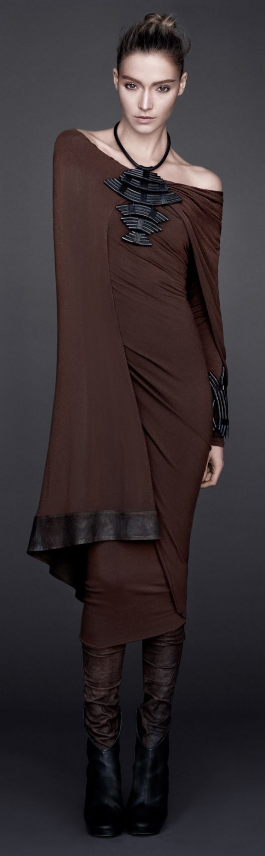 brown dress @roressclothes closet ideas #women fashion outfit #clothing style apparel