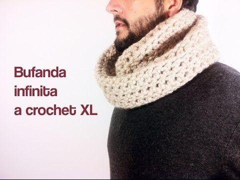 ▶ Cómo tejer una bufanda infinita a ganchillo / crochet - YouTube