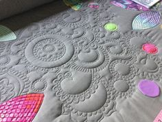 I like the effects of the blank spaces as well as the quilted patterns