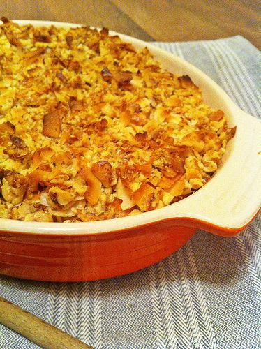 Walnut & Coconut Whipped Sweet Potato Casserole - The Freckled Foodie