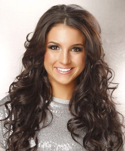 long curly hair with short layers - Google Search