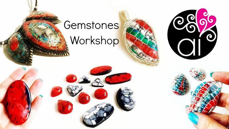 Gemstones   Polymer Clay Workshop   Corso Fimo a Roma per creare Murrine...