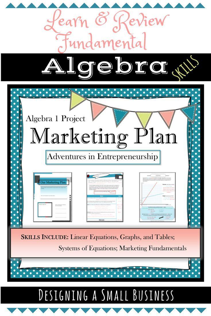 Distance Learning Math Project Algebra Marketing Plan Pbl Real