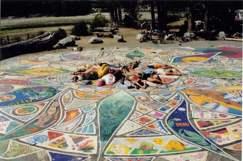the Mandala Project, Roberts Creek BC - I have a picture of this in the early stages (they redo do it every year) need to add it to my scrapbook