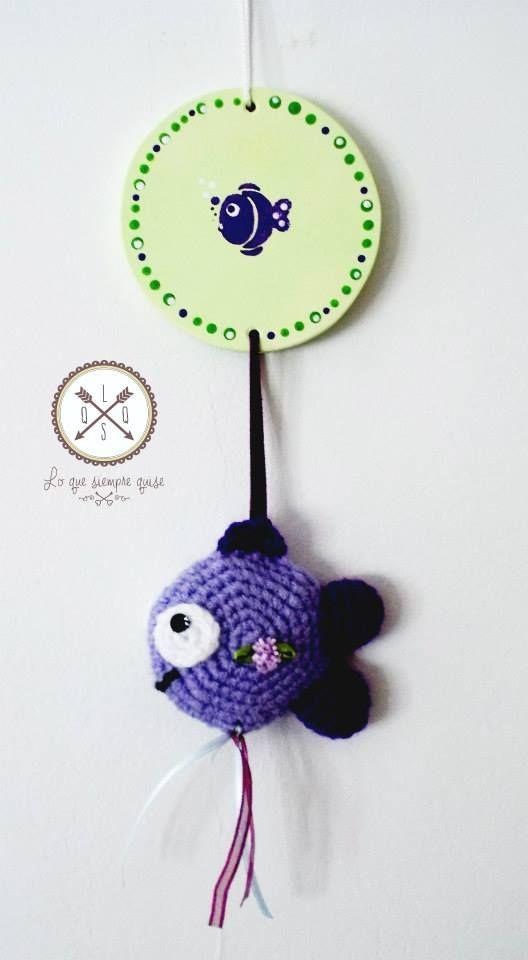 Colgantes infantiles crochet