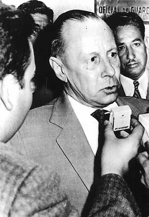 Walter Rauff (Köthen, Germany, June 19, 1906 – Santiago, Chile, May 14, 1984), was a Colonel of the S.S. In June 1944. From January 1938 he was an aide of Reinhard Heydrich firstly in the SD, the SS security service, later in the Reichssicherheitshauptamt or RSHA, the Reich Security Main Office, a department created by Himmler in 1939 grouping the Gestapo, SD and Kripo, the criminal police. Between 1958 and 1962 he worked for the Bundesnachrichtendienst, West Germany's intelligence service.
