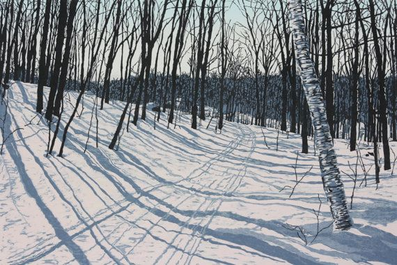 Solitude  woodblock print by JeanneAmatoPrints on Etsy, $525.00