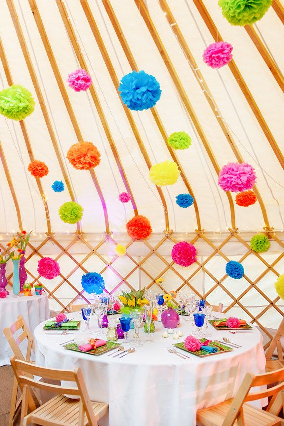 How great for outside decorations!  10 x Large Handmade Tissue Paper Pom Poms - Choice of Colours - Weddings - Garden Parties - Decorations  - Shop Displays