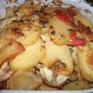 Fotografie receptu: Zapečené brambory s cuketou