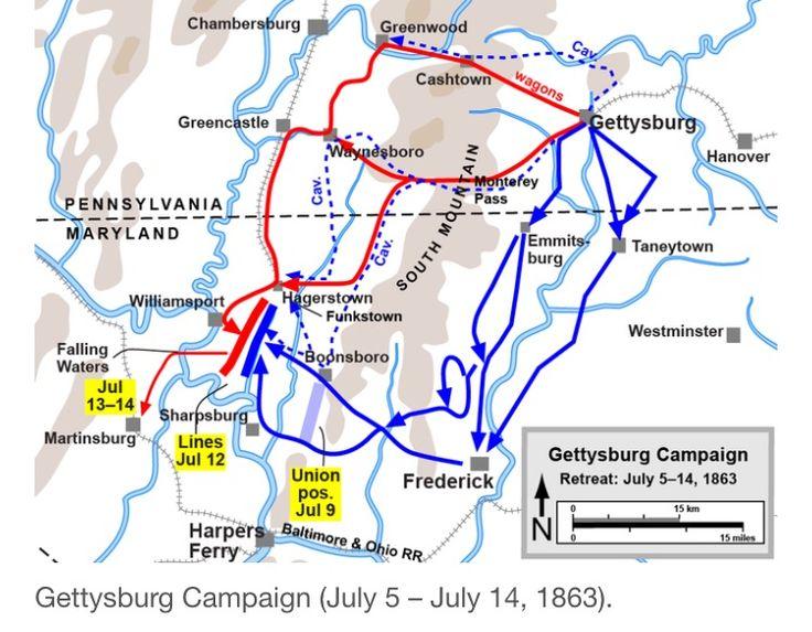 Best Gettysburg Maps Images On Pinterest Civil Wars - Gettysburg battle us map