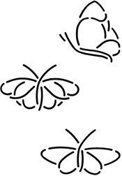 Deky Stencil Butterflies