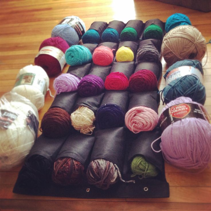 Store your yarn in a shoe organizer