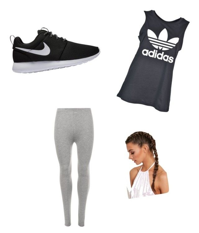 """""""Untitled #16"""" by alexandra-kermanidis on Polyvore featuring adidas, WearAll and NIKE"""