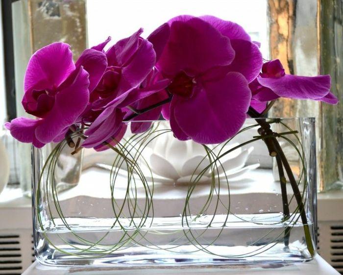 art floral moderne, orchidées pourpres