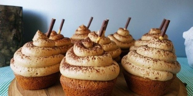 White Chocolate And Coffee Ganache Filled Cappuccino Cupcakes With Espresso Buttercream Icing