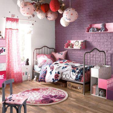 chambre fille mauve/rose