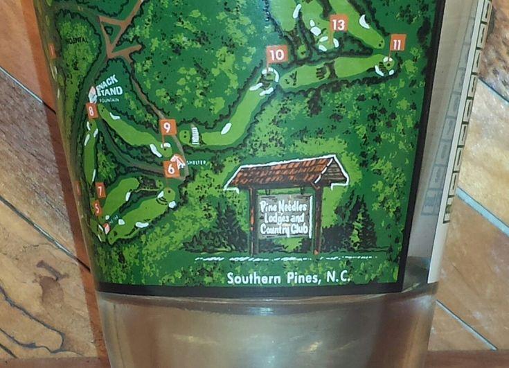 Pine Needles Lodge And Golf Club Vintage Rocks Glass