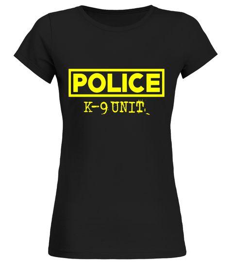 K-9 Police Officer T-Shirt LEO Off Duty Cops Law Enforcement