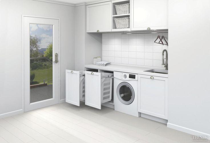 Model - SCl160D-W (1 x 60L Laundry Hamper, Door Pull, White)