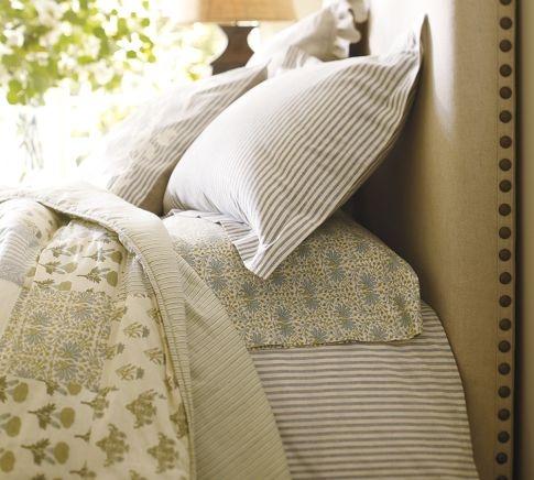 Nautical striped bedding