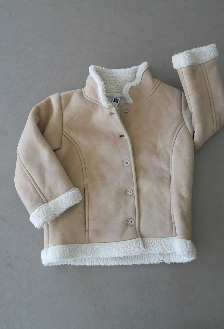"""Say """"Hello"""" to spring in style! BabyGap Faux-Shearling Coat (Size 4)(http://www.ecooutfittersonline.ca/babygap-faux-shearling-coat-size-4/)"""