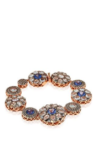 Beirut Collection Diamond and Sapphire Bracelet by Selim Mouzannar for Preorder on Moda Operandi