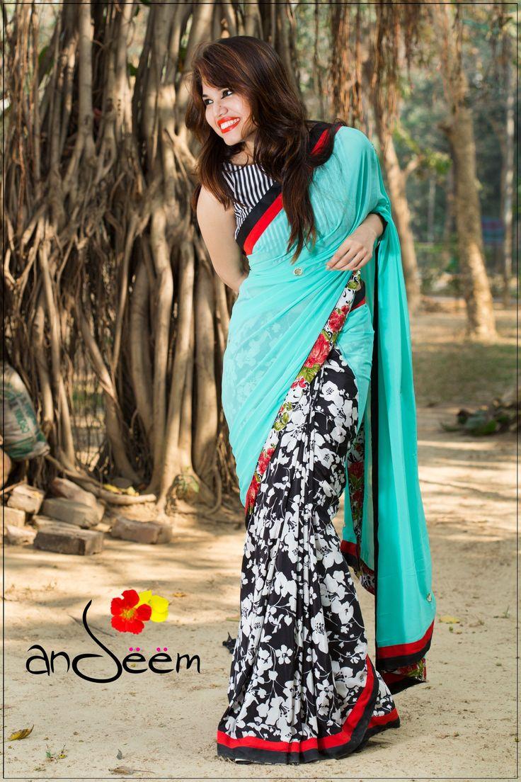 #floral #saree #Bangladesh Andeem