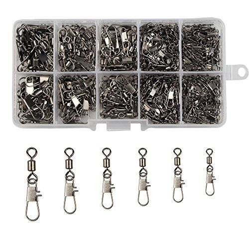 320pcs/box 2/4/6/8/10/12 Fishing Rolling Swivel with Interlock Snap Fishing Hooks Lures Connectors Set Fishing Tackle Box Kit Fishing Accessories(100% Copper + Stainless Steel)  https://fishingrodsreelsandgear.com/product/320pcsbox-24681012-fishing-rolling-swivel-with-interlock-snap-fishing-hooks-lures-connectors-set-fishing-tackle-box-kit-fishing-accessories100-copper-stainless-steel/  SIZE: 2#,4#,6#, 8#,10#,12# TYPE: Rolling swivel with interlock snap SWIVEL MATERIAL: Coppe