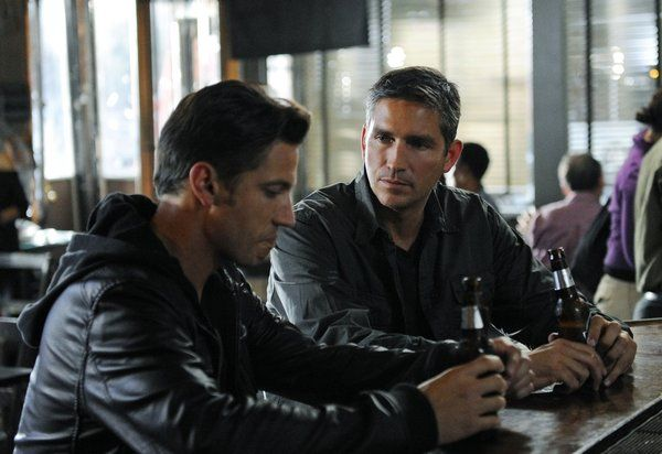 James Carpinello and Jim Caviezel in Person of Interest