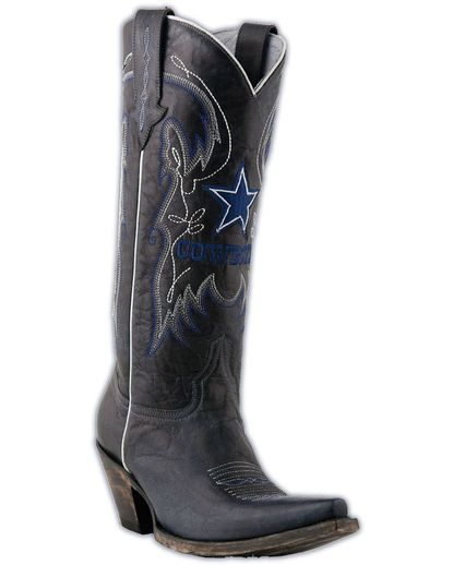 Women's Dallas Cowboys Navy Calf Boots  And, of course, No closet would be complete without these!