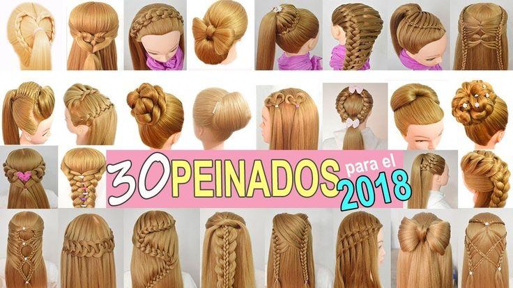 30 Peinados para Año Nuevo con Las mejores Trenzas para el 2018 de Fiestas - Niñas - Graduacion - YouTube