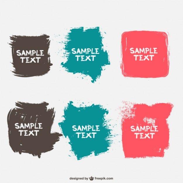 http://www.freepik.com/free-vector/brush-stroke-frames-vector-set_712917.htm