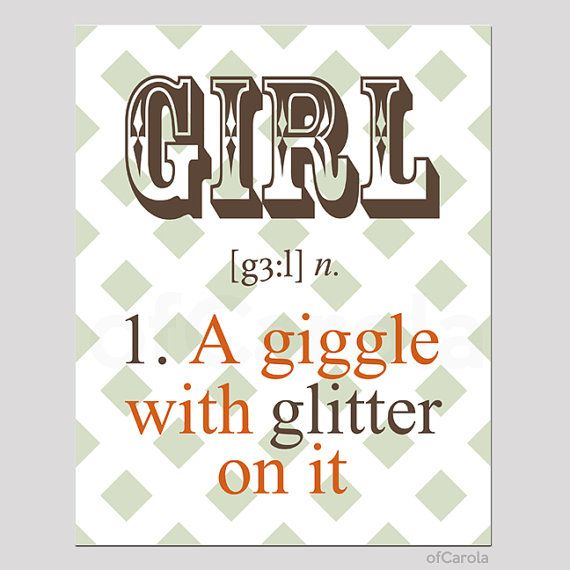 Fall Orange Brown Green White Text Quote Print Wall by ofCarola, $15.00