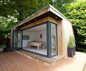 111 best images about cabin bungalow shed for Luxury garden buildings